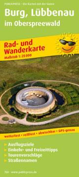 Rad- und Wanderkarte Burg - Lübbenau mit Oberspreewald