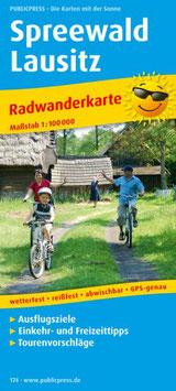 Radwanderkarte Spreewald - Lausitz
