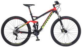 Mountainbike   Fully Totem 29Zoll Steward. inkl. Schutzblech, Licht und Spez. Pedalen in Gelb.
