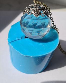 Silikonform Kristall Rund Ø3cm