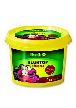 "Hack Nährsalz ""Blühtop"" NPK 15-11-15 + 2 Spurennährstoffe im 1kg Eimer"