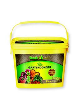 Hack Bio Gartendünger im 3kg Eimer NPK 6-2-12+3 (neue Formulierung)