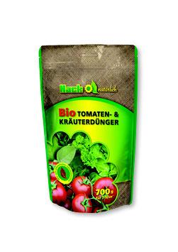 Hack Bio Tomaten- & Kräuterdünger NPK 5-3-2 im 700g Standbodenbeutel