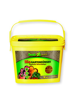 Hack Bio Gartendünger im 3kg Eimer NPK 5-3-2 (Nur solange der Vorrat reicht)