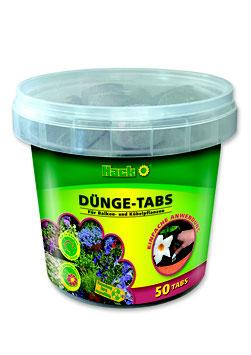 Hack Dünge-Tabs NPK 19-10-15+6+3 für Balkonblumen, Terrassen- und Kübelpflanzen sowie für Zimmerpflanzen / 50 Tabs je Eimer