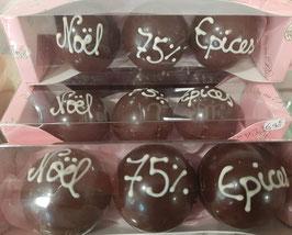 3 boules à faire fondre pour chocolats chaud