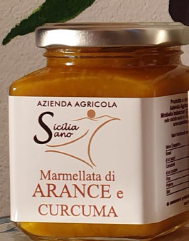 Orangen Marmelade mit Kurkuma,  250 g