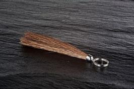 Schlüsselanhänger klein Silber Quaste