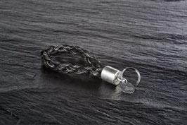 Schlüsselanhänger Silber verflochten