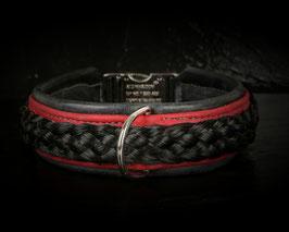 Argasto Hundehalsband Schwarz Rot