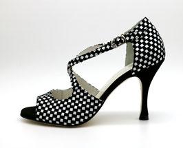 Croisé Black&White talons 8cm