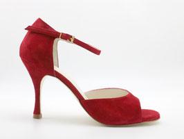 Clásico Velours Rouge Carmin talons 8cm