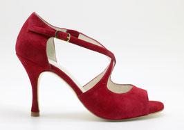 Croisé Velours Rouge Carmin talons 8cm