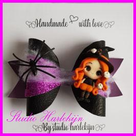 Een paarse halloween strik