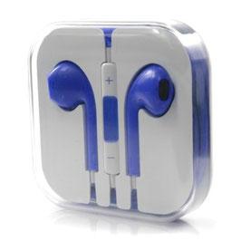 Kopfhörer mit Fernbedienung und Mikrofon - blau
