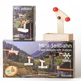 Mini Seilbahn zwei Wagen mit Station