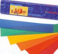 Wachsfolie 20 x 4 cm, 12 Farben