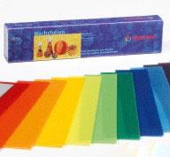 Wachsfolie 20 x 4 cm, 18 Farben