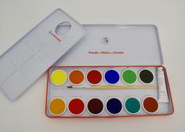 Deckfarbkasten - 12 Farben