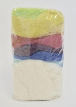 Kammzugwolle Sortiert - Pastell-Farben