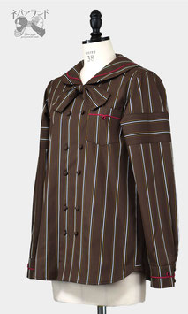 カカオセーラーシャツ<ブラウン>