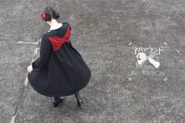 リボン座ワンピース<黒>