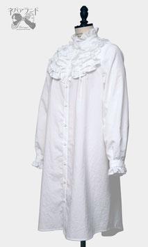 ガールフレンドシャツドレス<白>