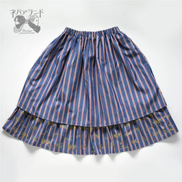 ドローイングスカート<ネイビー>
