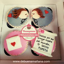Caja de 4 Cupcakes