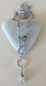 Halskette Labi-Graublau