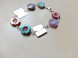 Armband Blumen-Silber-Liebe