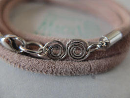 "Wickel-Armband ""Velours-Spirale"""