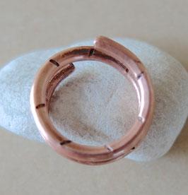 Kupfer-Ring HRINGUR 50 - schmal, beidseitig punziert