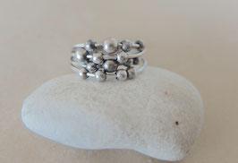 Silber-Ring Organic 58/59