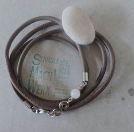 "Wickel-Armband ""Taupe Edelstahl"""