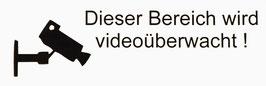 Videoüberwacht    Art.Nr. 1001
