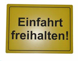Parken verboten, Einfahrt freihalten, Ausfahrt frei halten