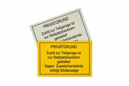 Hinweis-, Warn-  oder Informationsschilder
