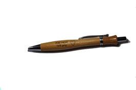 Kugelschreiber Holz - lackiert  inkl. Lasergravur    Art.Nr.202