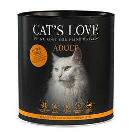 CAT'S LOVE ADULT TROCKENFUTTER TRUTHAHN & WILD