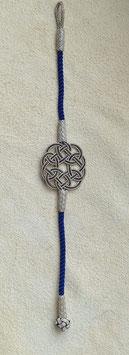Silber Endlosknoten Armband mit Knebelverschluss