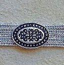 Silber Armband schmal, ovale stilisierte Blütenspangen Agraffen