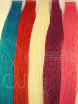 Stripe Extensions, fancy colors, glatt, 50cm, 10 Stück inkl. 10 Tapes