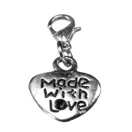 """Wechselanhänger Herz """"Made with Love"""""""