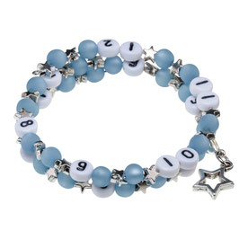 Stillarmband Stars in blau