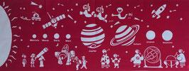 手ぬぐい:天文台まつりー赤に近いピンク