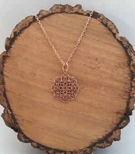 Anhänger Orientflower Silber 925 rosé gold