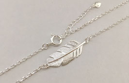 Halskette Feder Silber 925