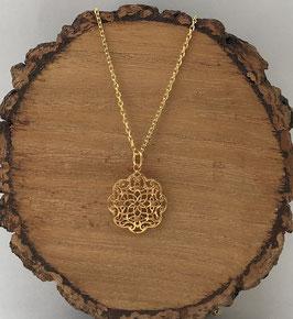 Anhänger Orientflower Silber 925 vergoldet