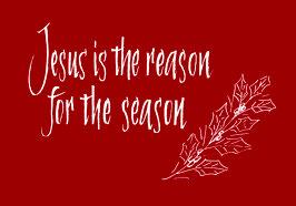 Weihnachtspostkarte - Jesus